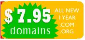 $ 7.95 domain name registration.