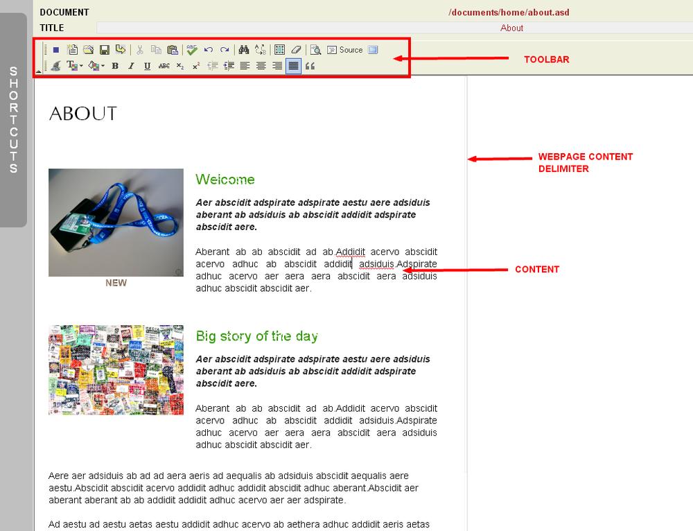 Monkey Business Pagebuilder Editor in Fullscreen mode