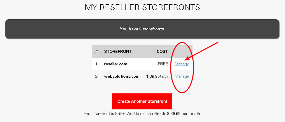 Managing your storefront