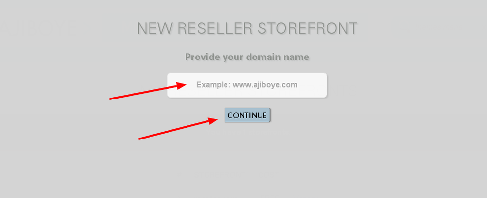 Providing the domain name for your storefront