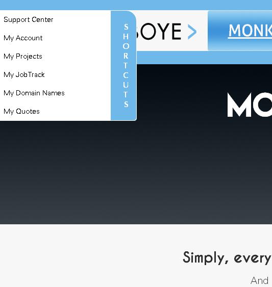 AJIBOYE shortcuts menu