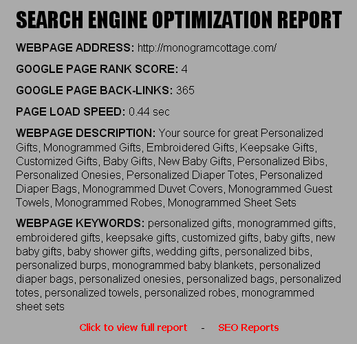 Monkey Business Search Engine Optimization ( SEO ) Report - Build a website for your business with Monkey Business
